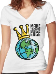 Edge World Women's Fitted V-Neck T-Shirt