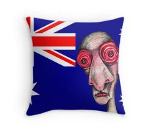 Insomniac Goes to Australia Throw Pillow