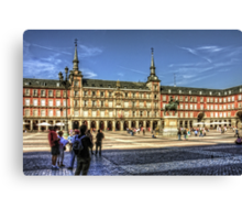The place to be in Madrid Canvas Print
