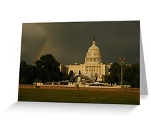 Rainbow and the US Capitol Greeting Card