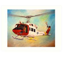 Huey UH-1N  Art Print