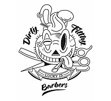 Dirty Filthy Barbers Photographic Print