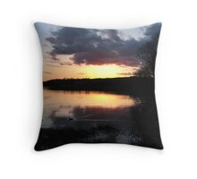 Linlithgow Loch at sunset Throw Pillow