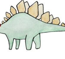 Warm wishes and a happy stegosaurus. Sticker
