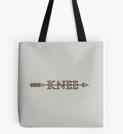 Arrow to the Knee Tote Bag