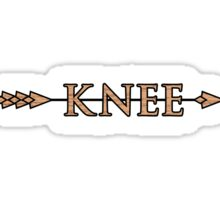 Arrow to the Knee Sticker