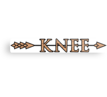 Arrow to the Knee Metal Print