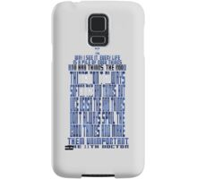 TARDIS Quote: The 11th Doctor Samsung Galaxy Case/Skin