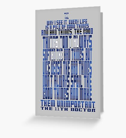 TARDIS Quote: The 11th Doctor Greeting Card