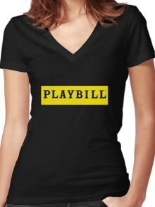 Playbill  Women's Fitted V-Neck T-Shirt