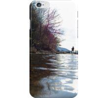 Fishing at the lake iPhone Case/Skin