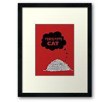Cat Vs. String Framed Print