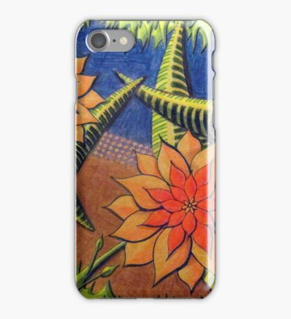 412 - FLORAL DESIGN 13 - DAVE EDWARDS - COLOURED PENCILS - 2014 iPhone Case/Skin