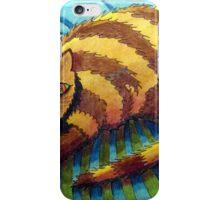 413 - STRIPEY CAT - DAVE EDWARDS - COLOURED PENCILS - 2014 iPhone Case/Skin
