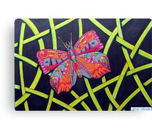 411 - FANTASY BUTTERFLY - DAVE EDWARDS MIXED MEDIA - 2014 Canvas Print