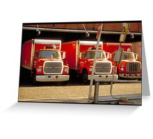 Red trucks - NYC Greeting Card