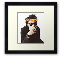 Gerard Way - Flower Crown Framed Print