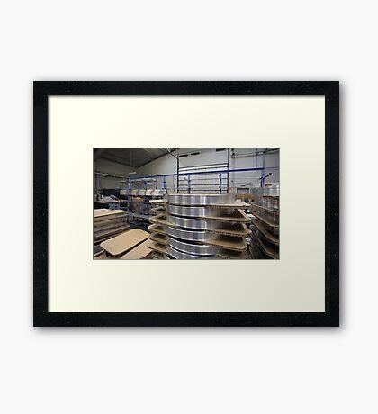 industrial assembly shop Framed Print