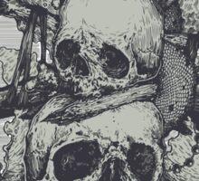 3 Skulls Sticker