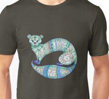 fuzzy ferret in greens Unisex T-Shirt