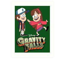 Gravity Falls-Dipper and Mabel Pines Art Print
