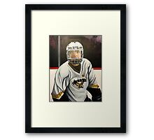 """Hockey Player""  Framed Print"