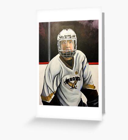 """Hockey Player""  Greeting Card"