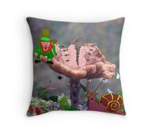 Creatures of the Shroom Throw Pillow