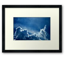 HEAVENLY BLUE CLOUDS Framed Print