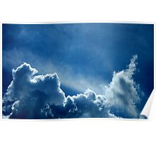 HEAVENLY BLUE CLOUDS Poster