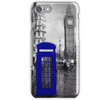 Blue telephone box - London iPhone Case/Skin