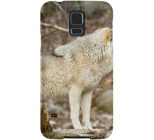 Solitary Timber Wolf Samsung Galaxy Case/Skin
