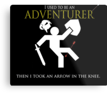 Adventurer with an arrow in the knew Metal Print