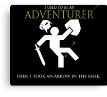 Adventurer with an arrow in the knew Canvas Print