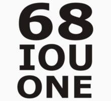 68 IOU ONE (from the 'Dare to Wear' collection) by scary