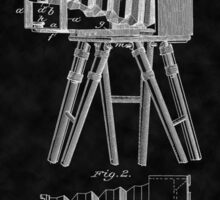 1885 View Camera Patent Art-BK Sticker