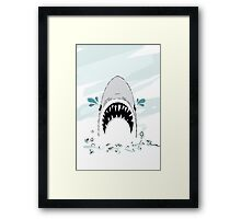 Crying Shark Framed Print