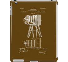 1885 View Camera Patent Art iPad Case/Skin