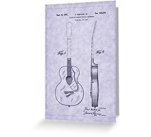 1941 Gretsch Guitar Patent Greeting Card