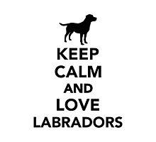 Keep calm and love Labradors Photographic Print
