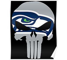Seahawks Skull  Poster