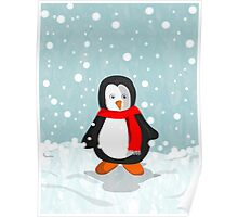 Penguin in the snow Poster