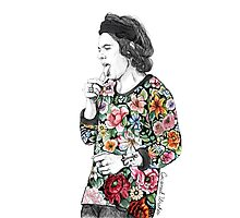 Floral Harry Photographic Print