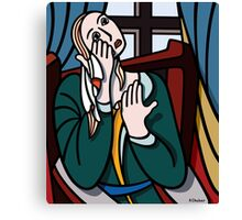 Crying Girl Canvas Print