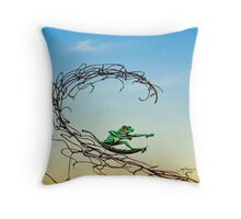 Surfin' the Net Throw Pillow