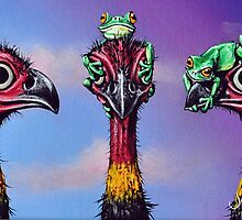 Hear No Evil, See No Evil, Speak No Evil (Bush Turkeys) by John  Murray
