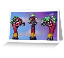 Hear No Evil, See No Evil, Speak No Evil (Bush Turkeys) Greeting Card