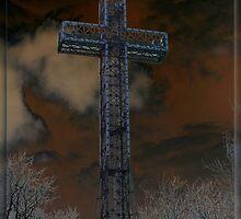 Gothic Cross by Rina  Kupfer