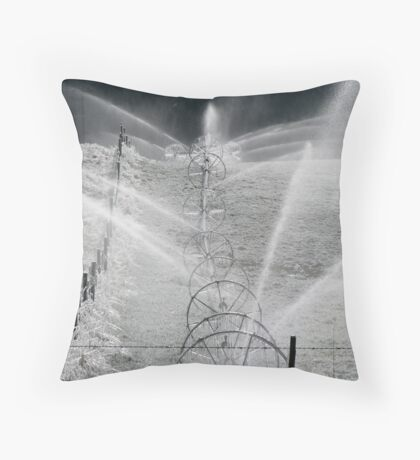 Frosty Sprinklers  Throw Pillow