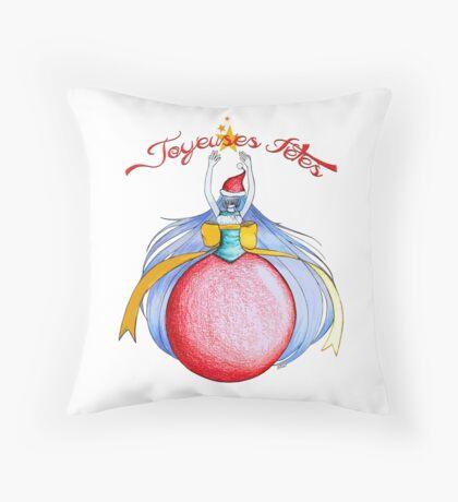 Joyeuses Fetes ! (Happy Holidays !) Throw Pillow